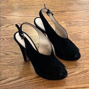 Prada suede shoe platform booties